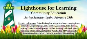 picture advertising Lighthouse for Learning classes