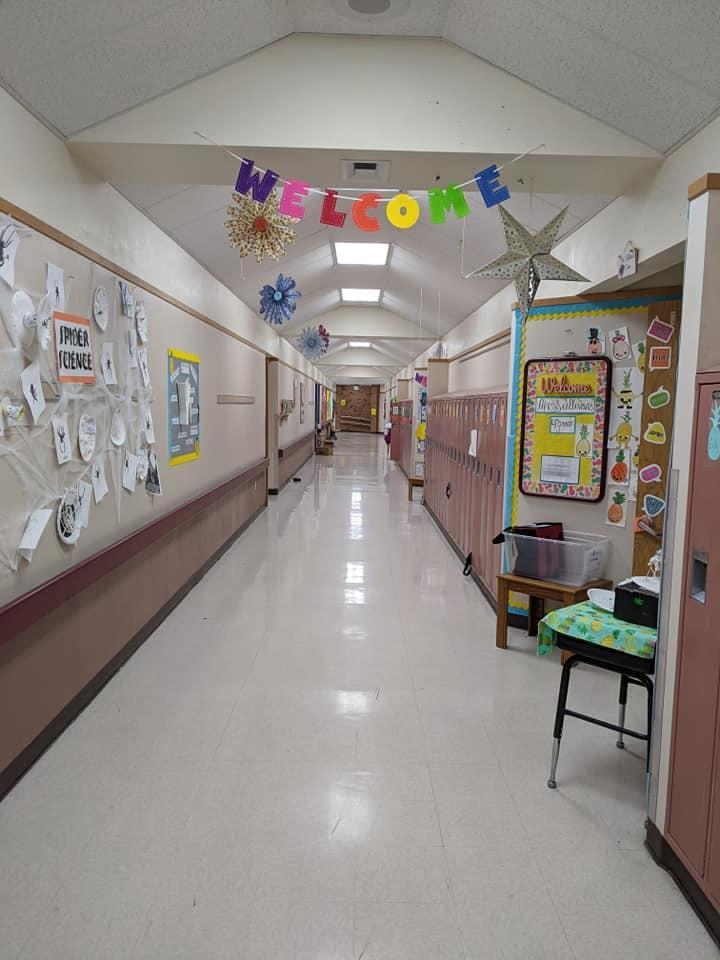Hallway with welcome