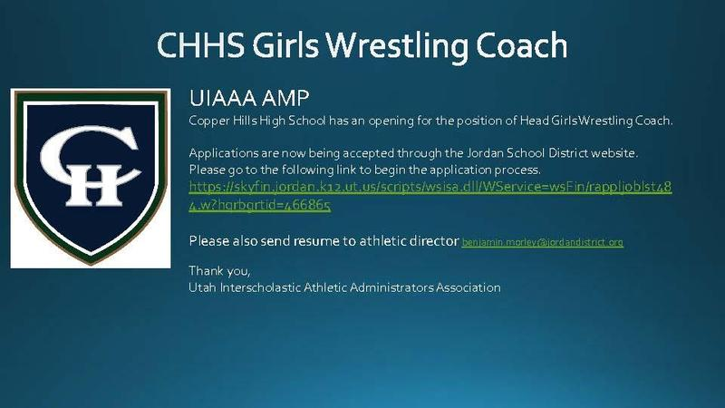 CHHS Girls Wrestling Coach