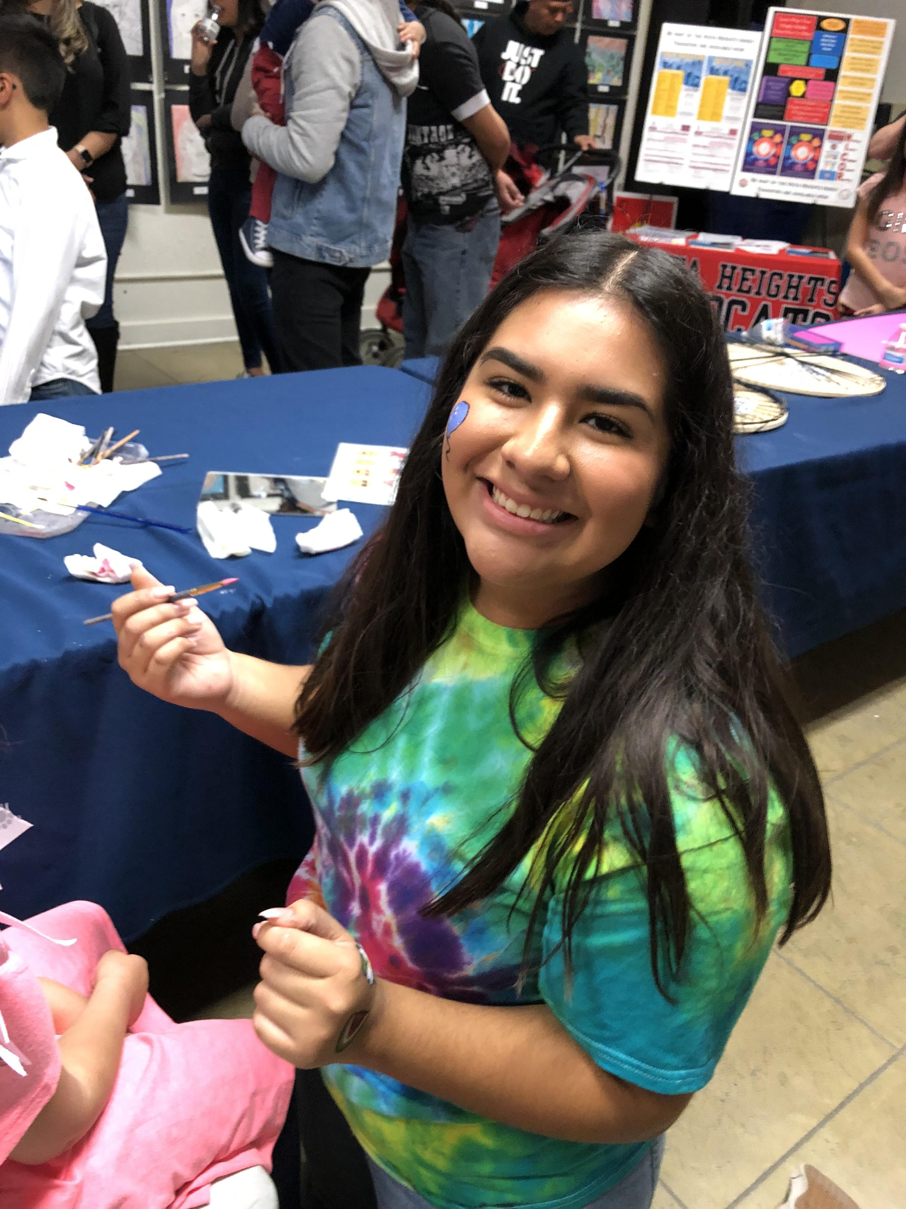 Photo of One of the Art Show Face Painters