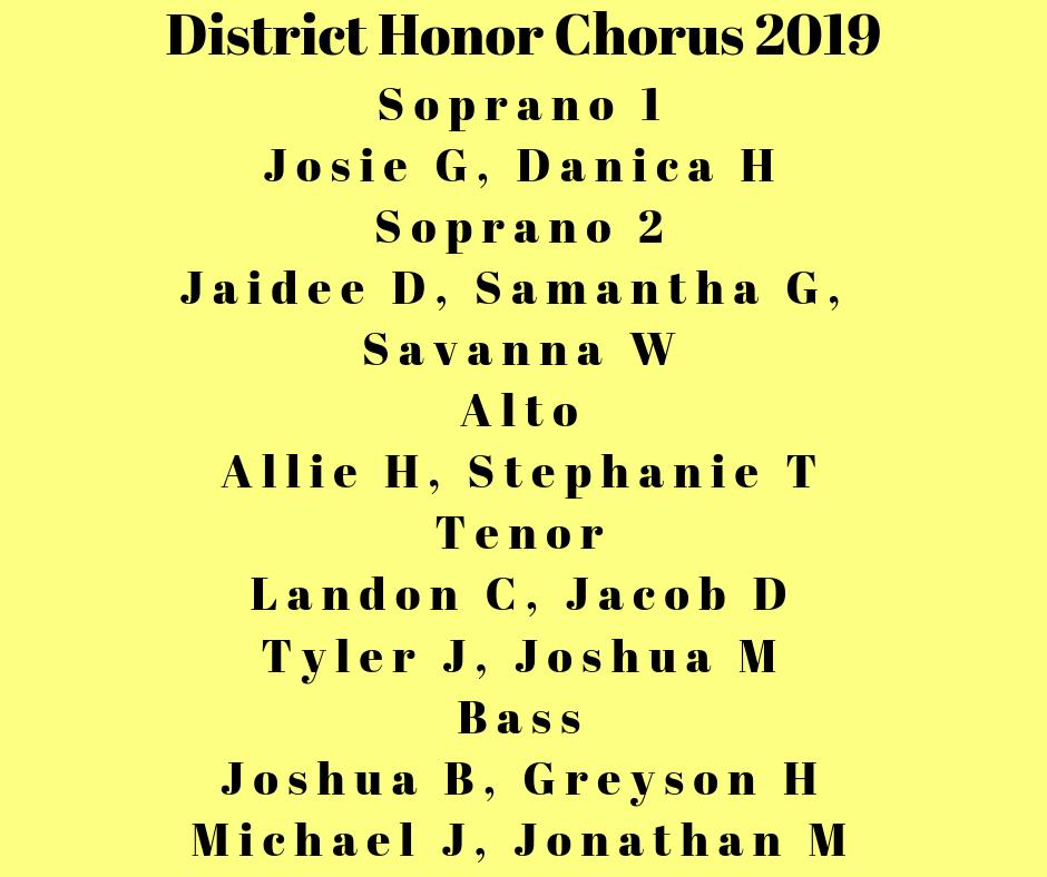 District Honor Chorus 2019