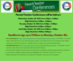 Parent Teacher Conference Sign Up Now Open