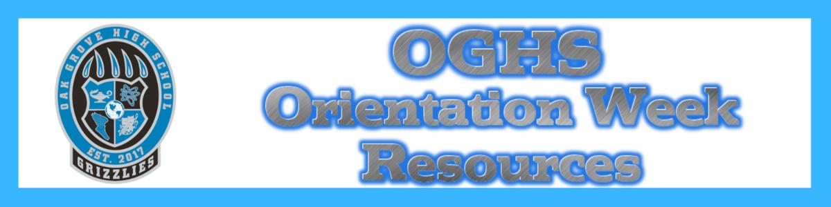 Orientation Week Resources