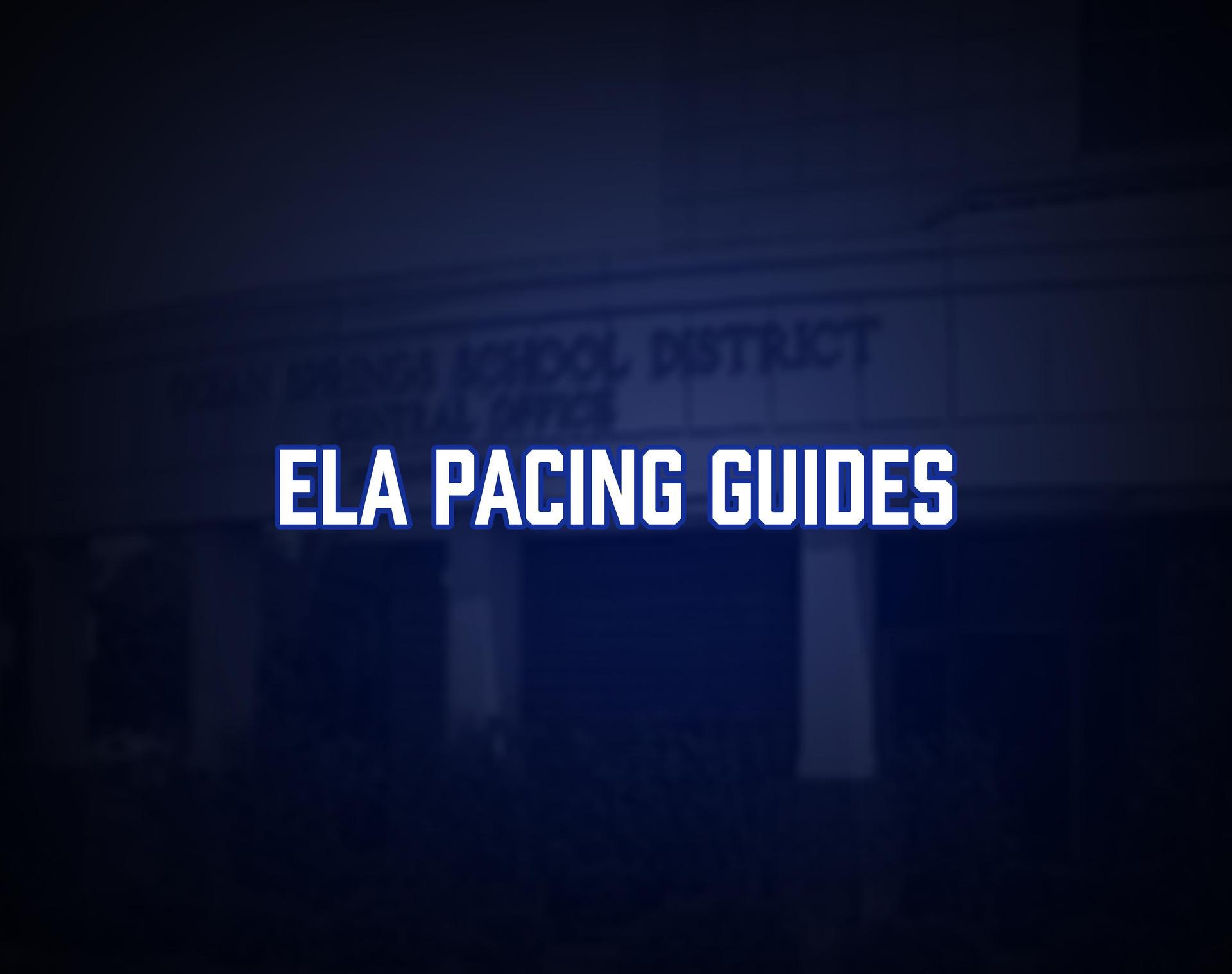 ELA Pacing Guides Tile