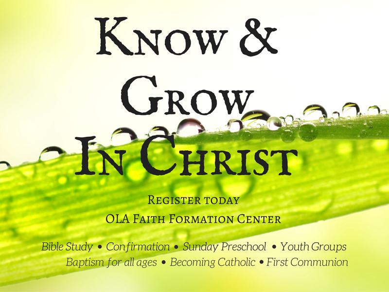 Register for Faith Formation (Eng/Span) Thumbnail Image