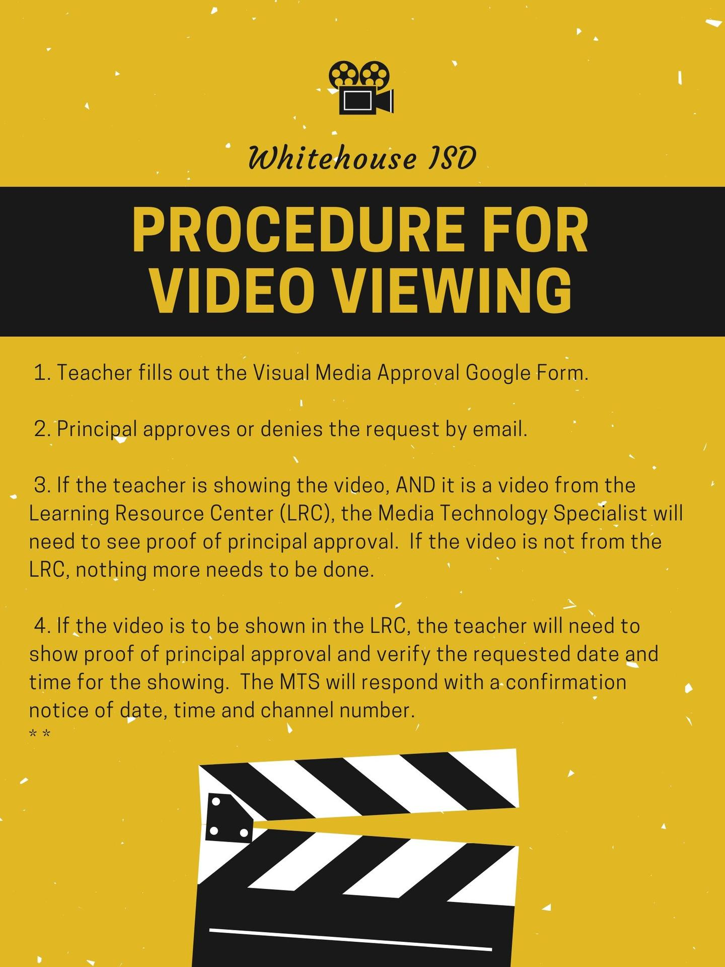 Video Media Technology Instructional Technology Whitehouse