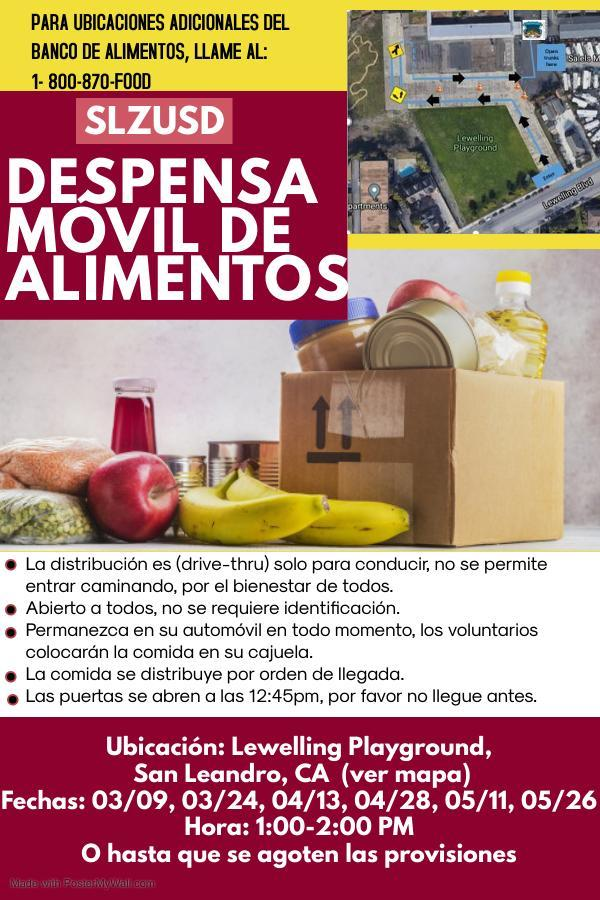 Food Bank Flyer Spanish