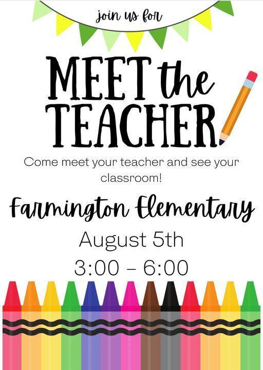 Meet the Teacher invitation