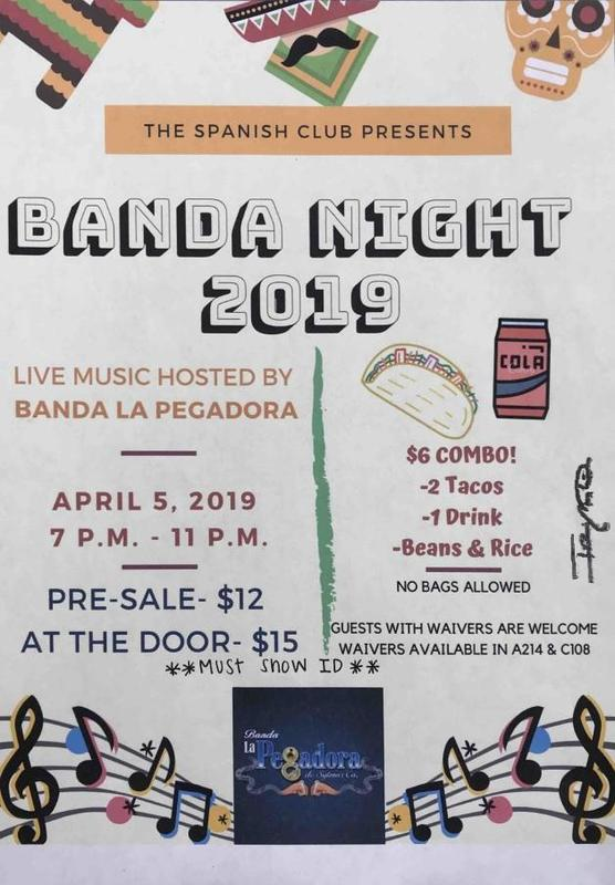 Spanish Club Sponsors Banda Dance Night Friday, April 5 Featured Photo