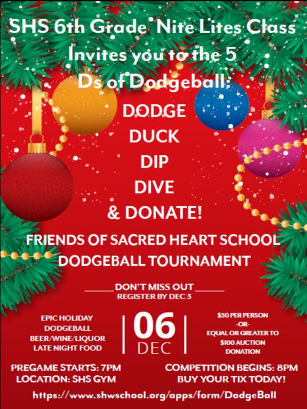Dodgeball flyer
