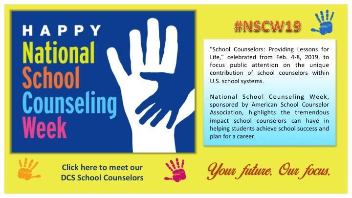 2019 School Counselors Week