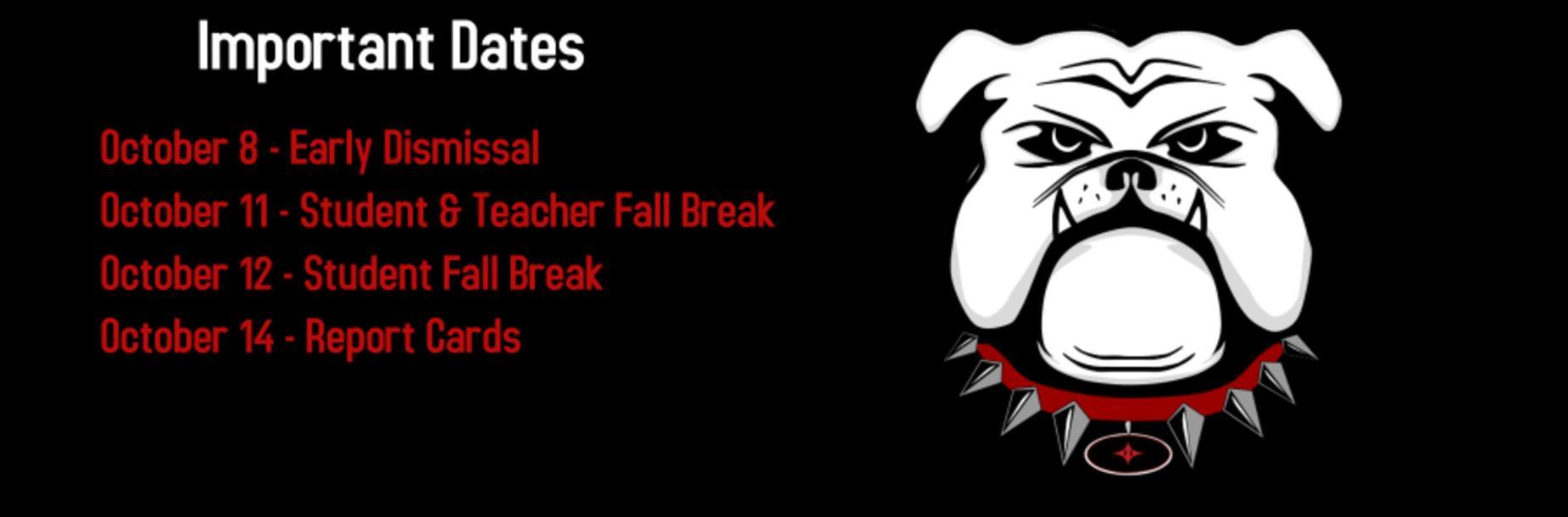Oct. Important Dates