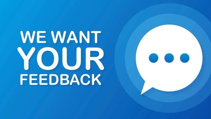 image of we want your feedback