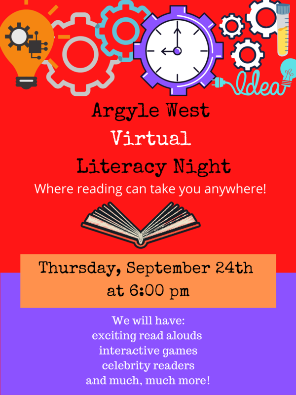 Virtual literacy night