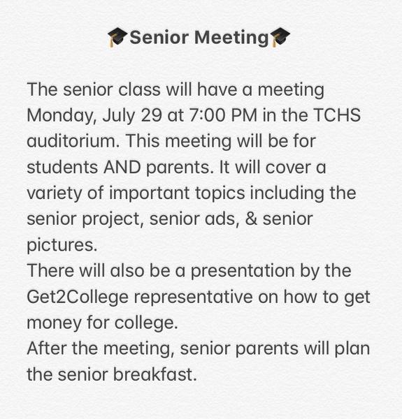 2019 Senior Meeting