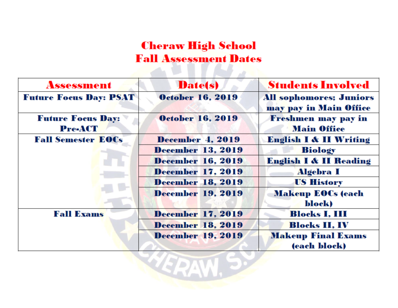 Fall 2019 Assessment Schedule Featured Photo
