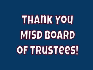 Thank You MISD Board of Trustees icon