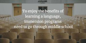 Immersion in middle school | Education Week