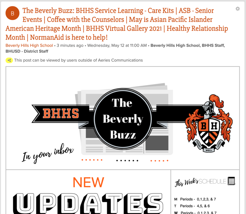 BHHS Newsletter - The Beverly Buzz - May 12, 2021