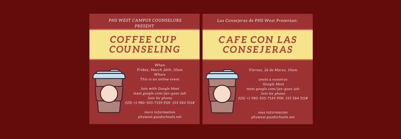 Coffee Cup Counseling Friday March 26th at 10:00 Featured Photo