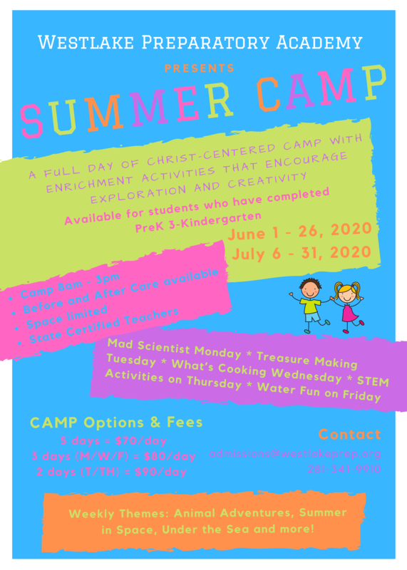 2020 Early Childhood Summer Camps Available! Thumbnail Image