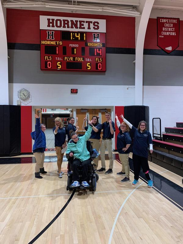 bocce team celebrating their big win