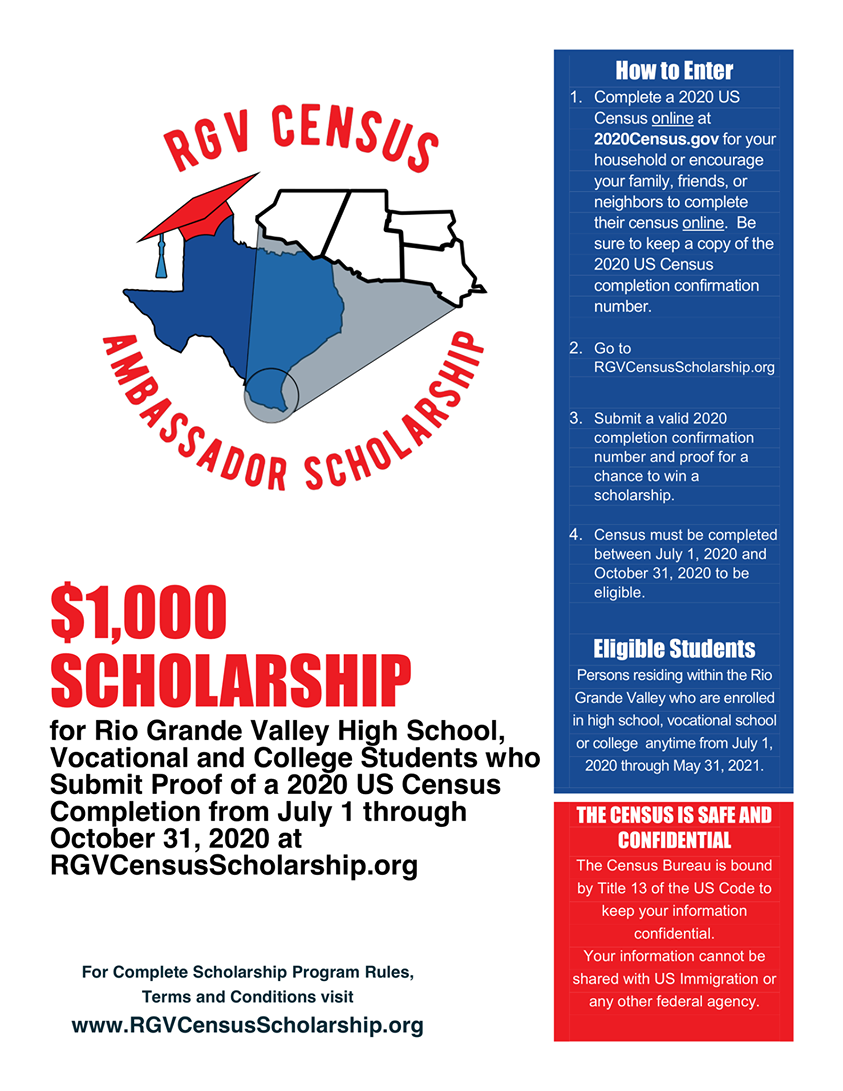 RGV Census Ambassador Scholarship