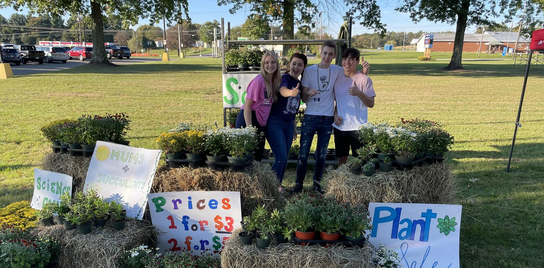 Science Club booth at Homecoming