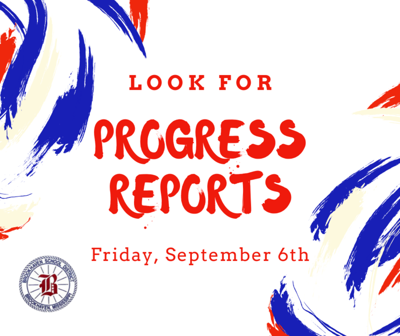 Progress Reports will be distributed to students on Friday, September 6. Thumbnail Image