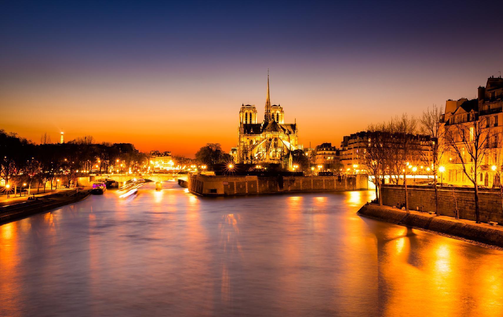 The Seine River and Ile de la Cité, Paris