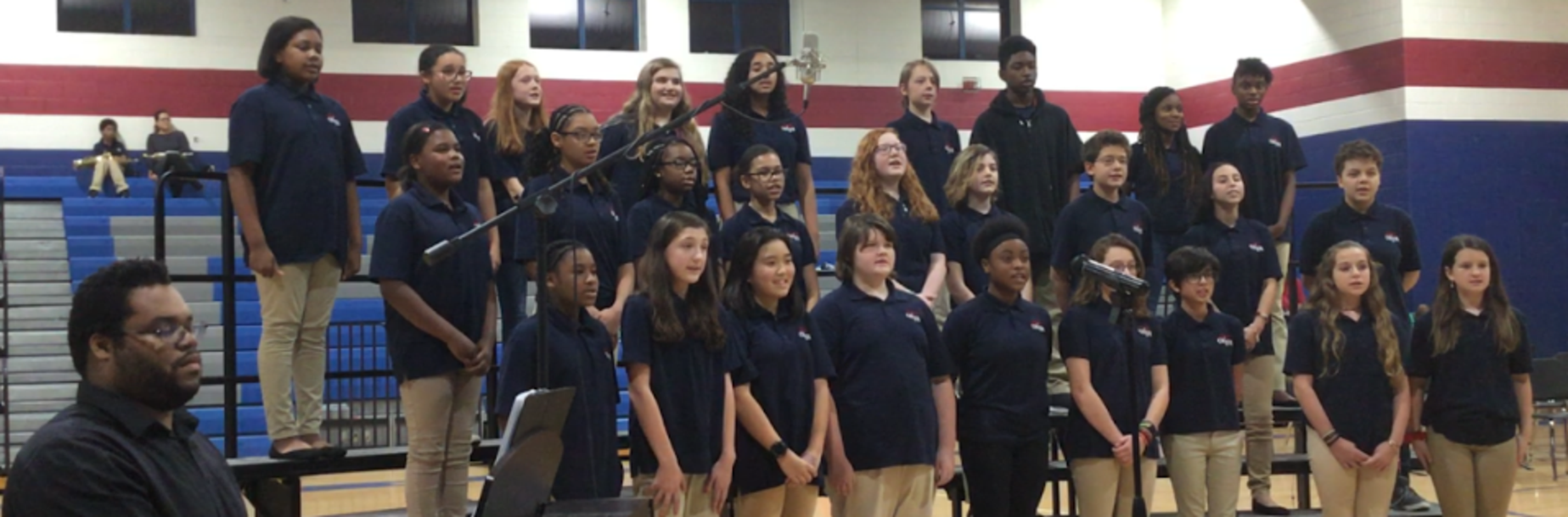 7th Grade Chorus Performs During Winter Fine Arts Program