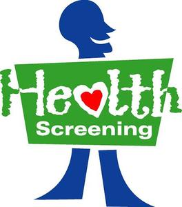 Health Screening Sign with person