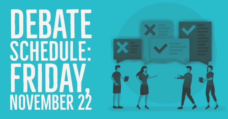 Debate Schedule
