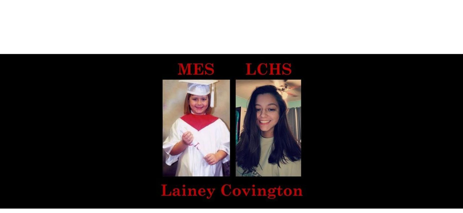 Lainey Covington K & 12th grade pics