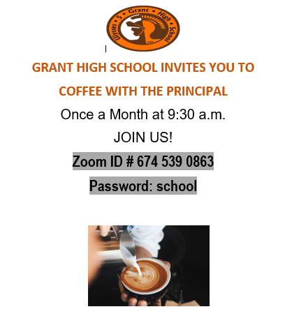 Coffee with the Principal! Monday, October 11@ 9:30 am Featured Photo