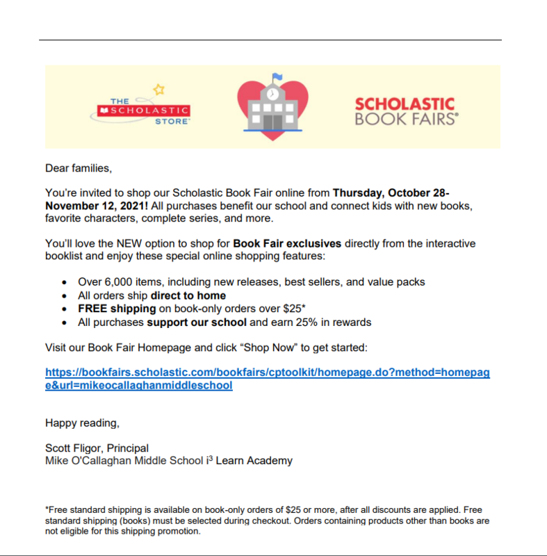 The Scholastic Bookfair is Coming! Featured Photo