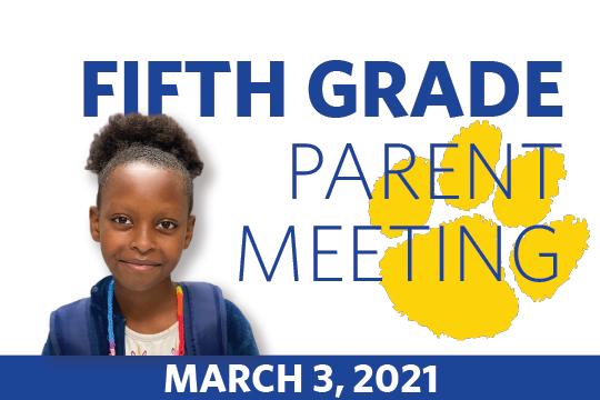 Fifth Grade Parent Meeting