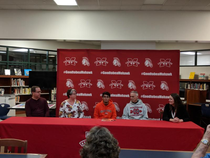 Nathan Thobe signs his national letter of intent with Ohio Northern for XC! Featured Photo