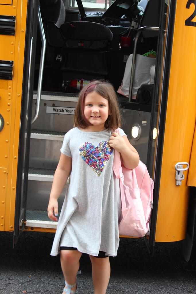 1st Day of school bus ride.