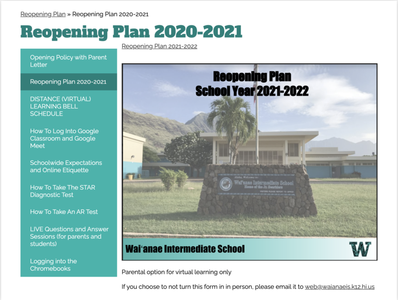 Updated Reopening Plan Featured Photo