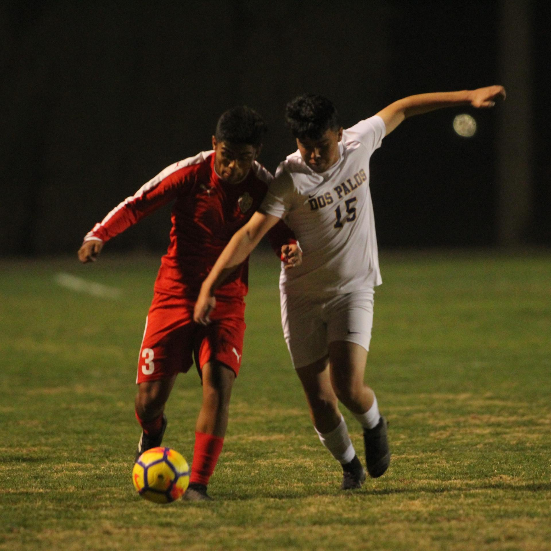 Alejandro Montes Fighting for the Ball