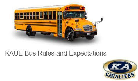 KAUE Bus Rules and Expectations Featured Photo