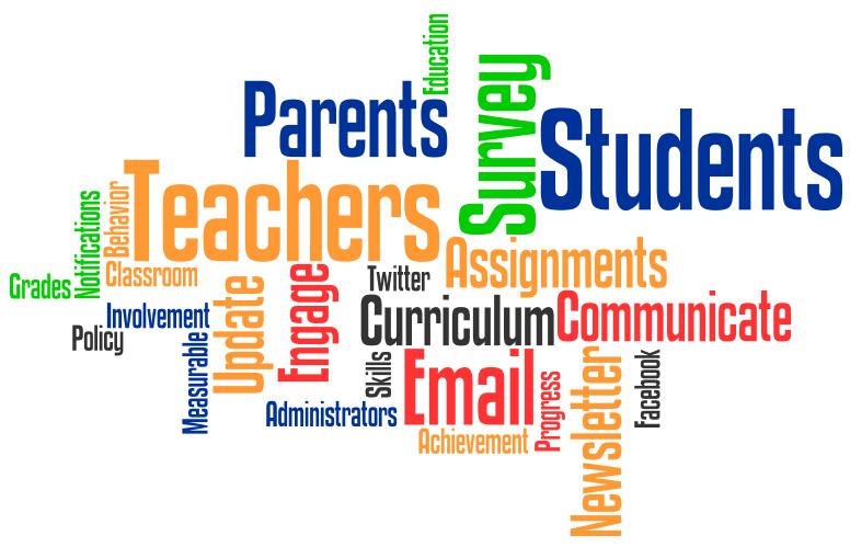 Colorful words, Parents, students, survey, teachers