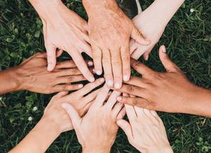 Hands for friendship - respect