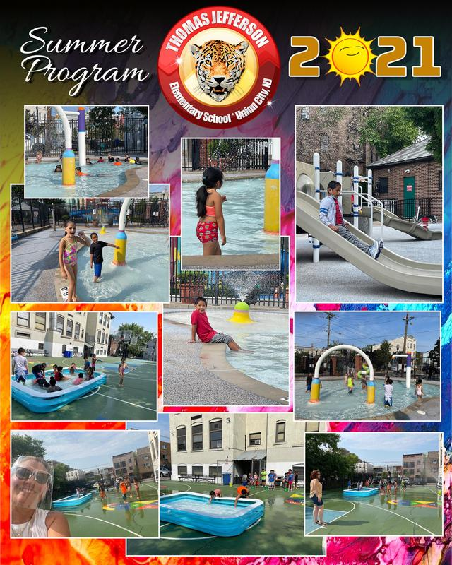 Water park and pool day collage