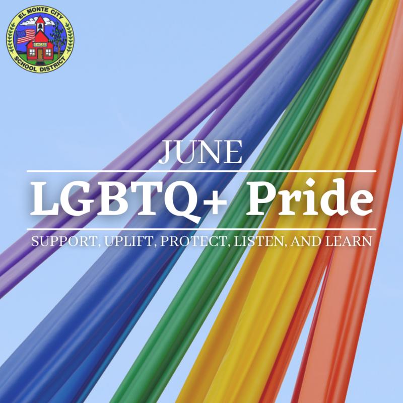 EMCSD Graphic recognizing June as Pride Month. Graphic states,