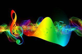 Pixabay Image of Rainbow Musical Notes