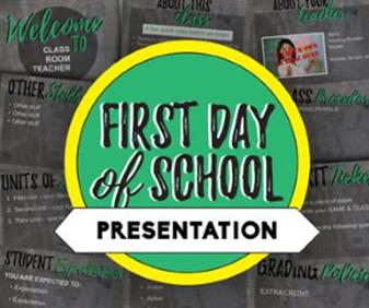 first day of school presentation