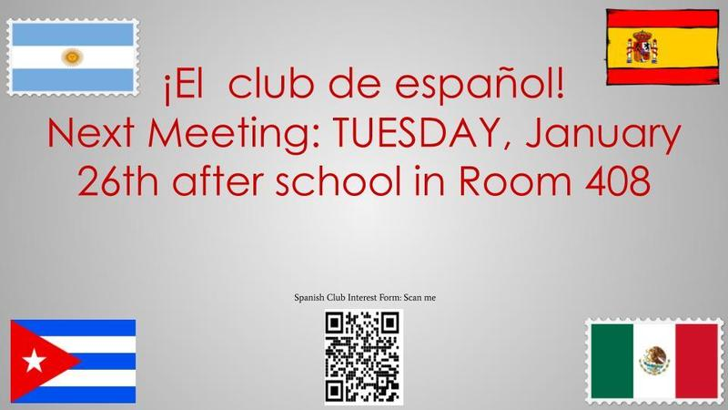 Spanish Club Meeting