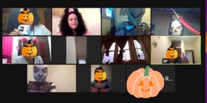 Halloween Zoom class